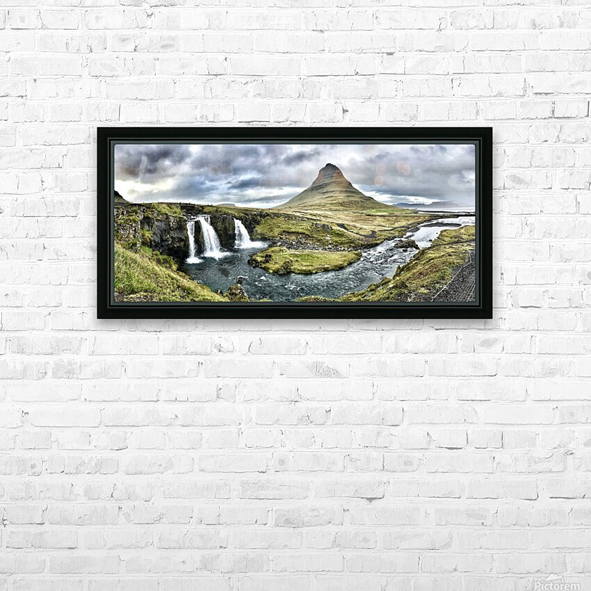Kirkjufell HD Sublimation Metal print with Decorating Float Frame (BOX)