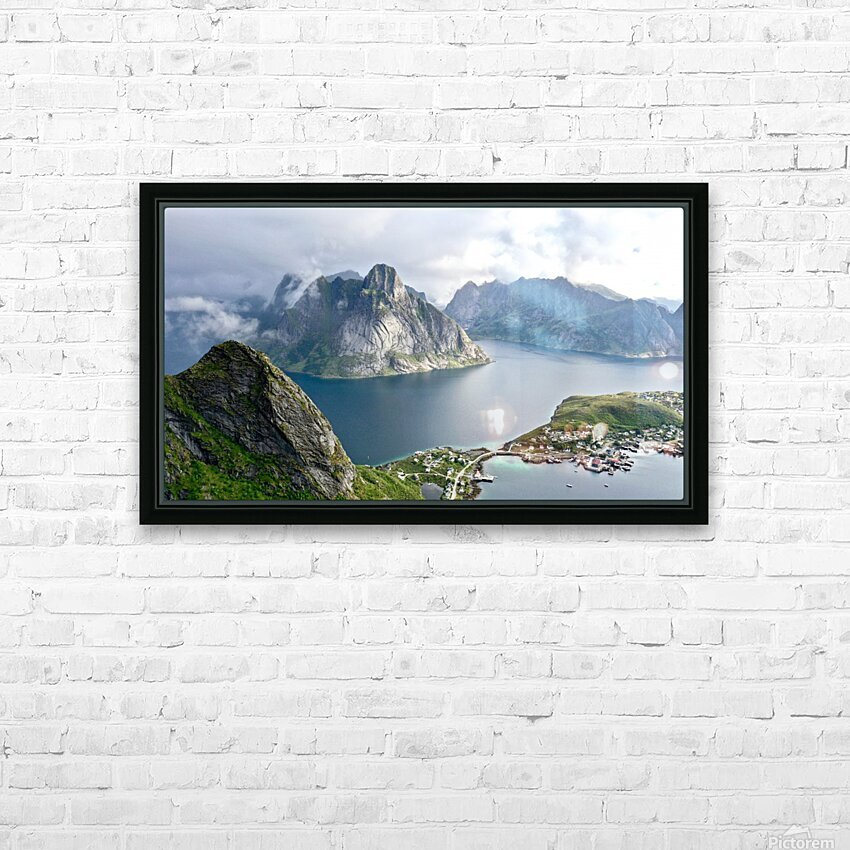 Lofoten 3 HD Sublimation Metal print with Decorating Float Frame (BOX)