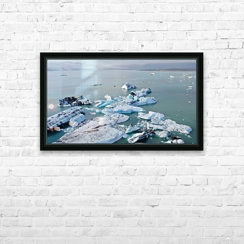 Jokulsarlon HD Sublimation Metal print with Decorating Float Frame (BOX)