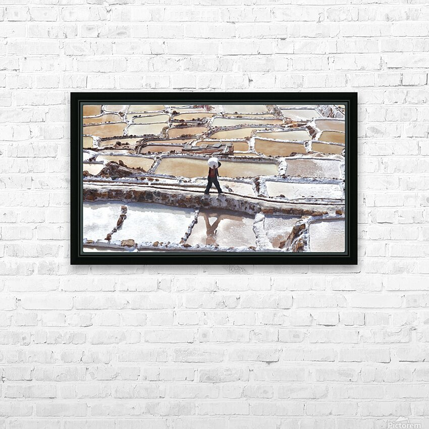 A Day at the Salt Mine HD Sublimation Metal print with Decorating Float Frame (BOX)