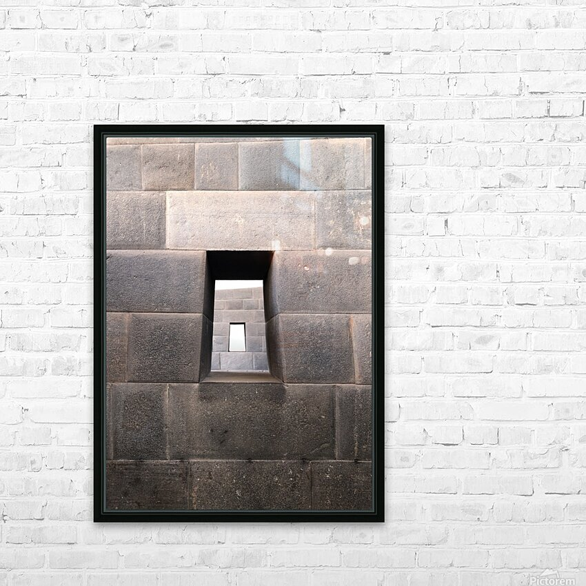 Incan Stonework HD Sublimation Metal print with Decorating Float Frame (BOX)
