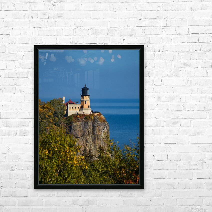 Split Rock Lighthouse HD Sublimation Metal print with Decorating Float Frame (BOX)