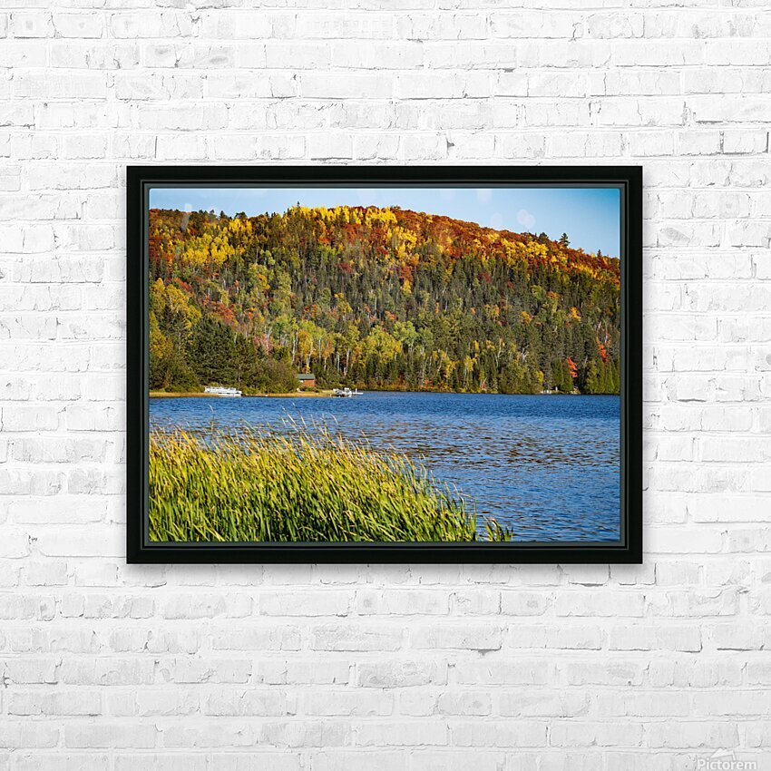 Lax Lake Mn HD Sublimation Metal print with Decorating Float Frame (BOX)