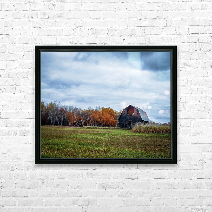 autumn barn HD Sublimation Metal print with Decorating Float Frame (BOX)