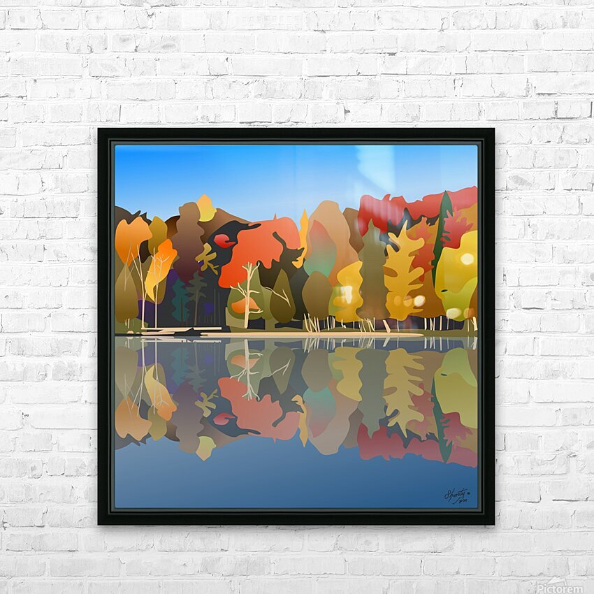 Crystal Lake HD Sublimation Metal print with Decorating Float Frame (BOX)