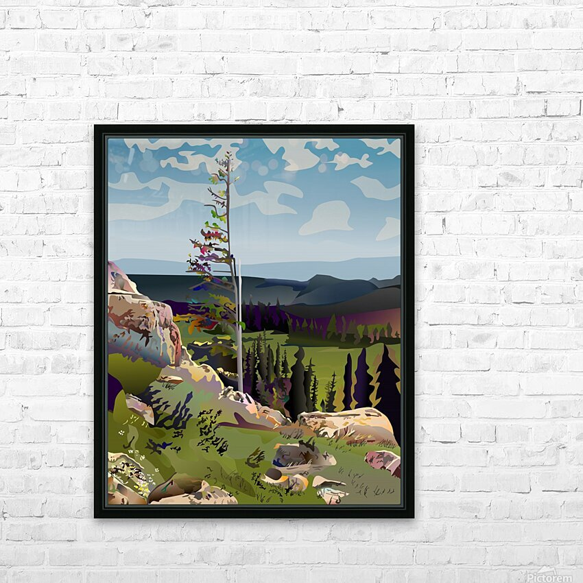 Lone Tree HD Sublimation Metal print with Decorating Float Frame (BOX)