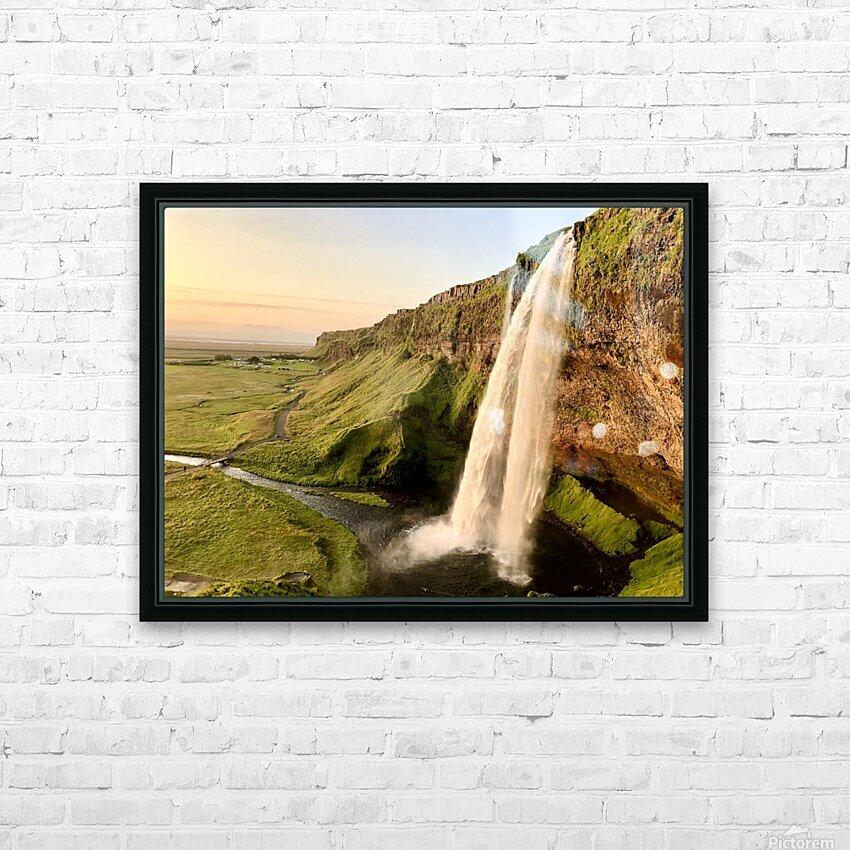 Seljalandsfoss HD Sublimation Metal print with Decorating Float Frame (BOX)