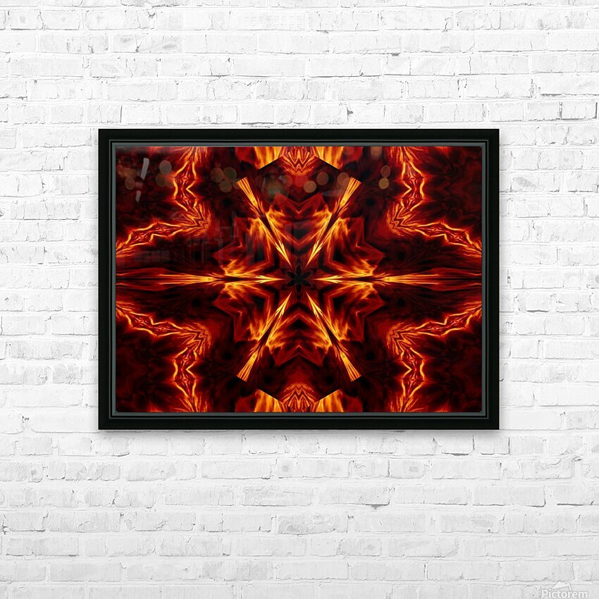 Eternal Flame Flowers 1 HD Sublimation Metal print with Decorating Float Frame (BOX)