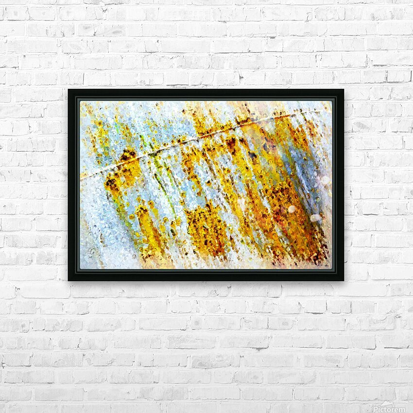 Rusty Barrel HD Sublimation Metal print with Decorating Float Frame (BOX)