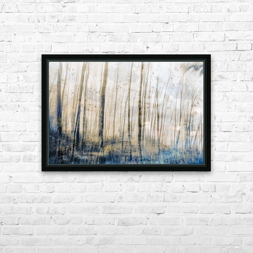 Tree Dreams in Blue HD Sublimation Metal print with Decorating Float Frame (BOX)