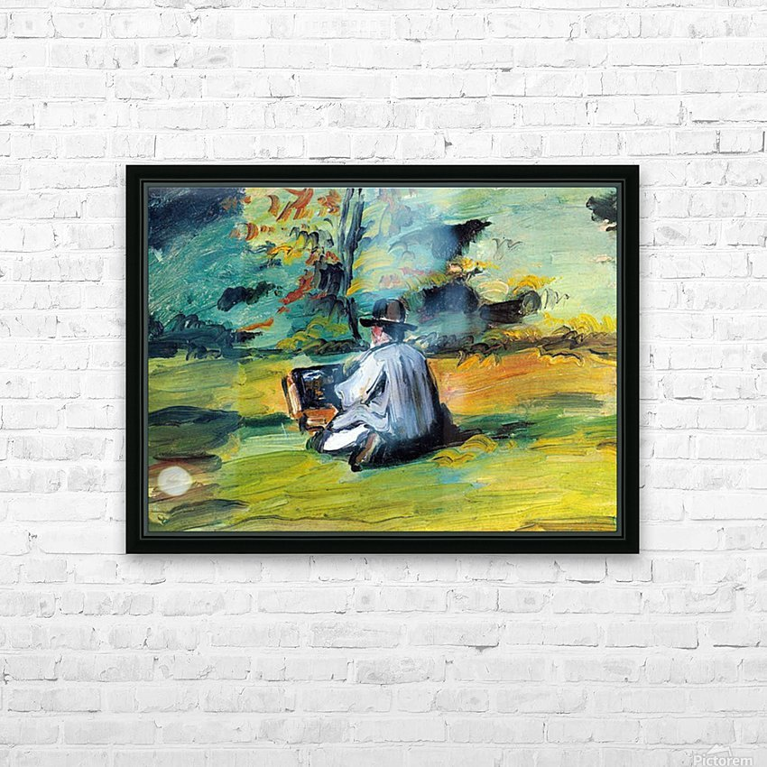 Painter at Work by Cezanne HD Sublimation Metal print with Decorating Float Frame (BOX)