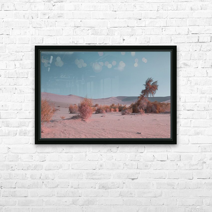 Misty Desert HD Sublimation Metal print with Decorating Float Frame (BOX)