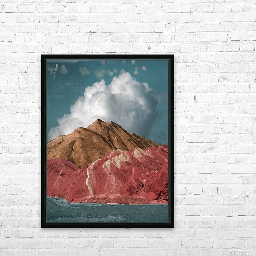 Colorful Danxia HD Sublimation Metal print with Decorating Float Frame (BOX)