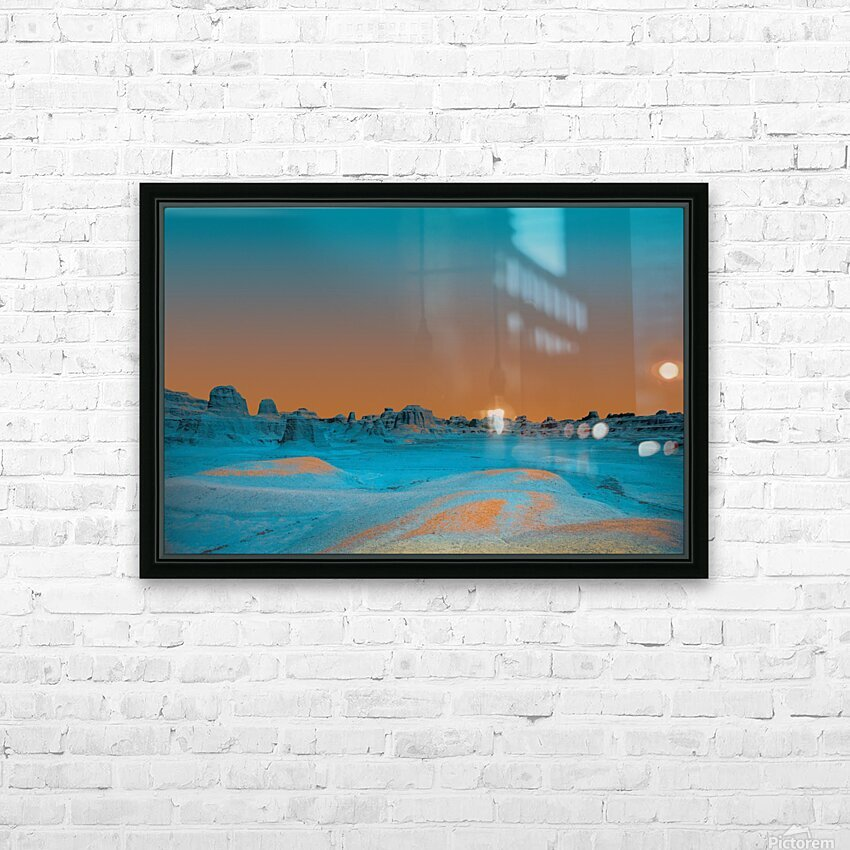 Ghost City HD Sublimation Metal print with Decorating Float Frame (BOX)