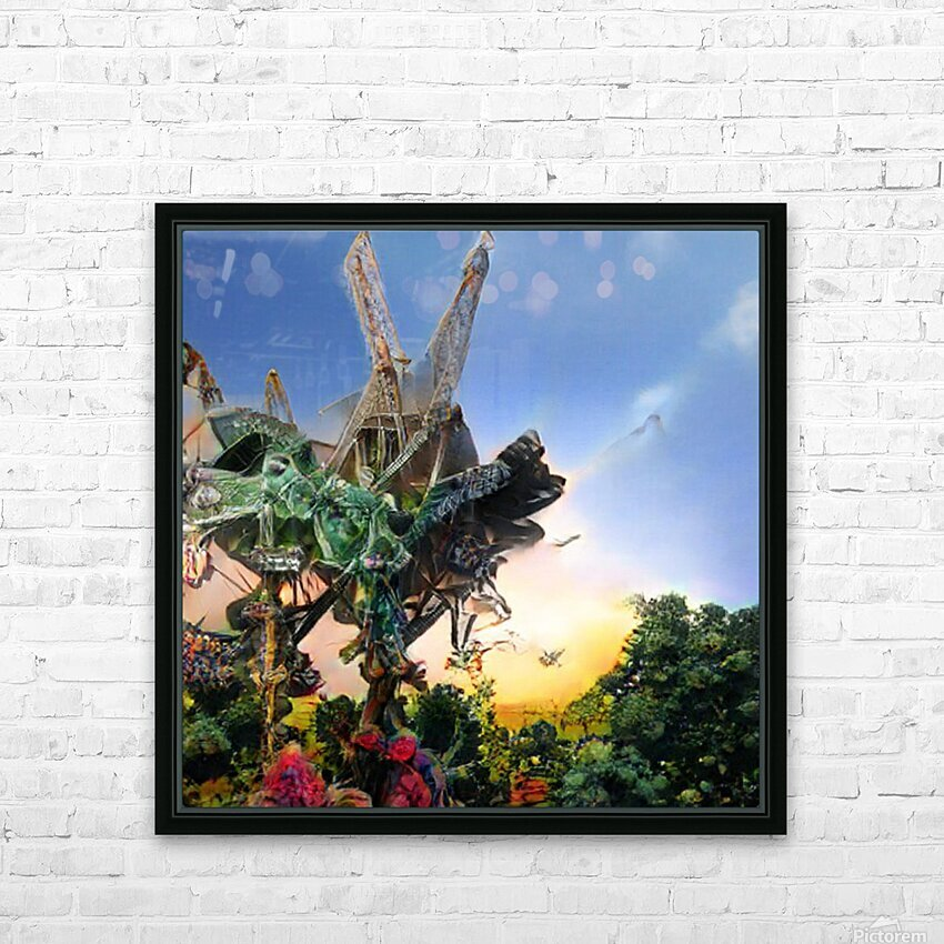 Composicion10077 HD Sublimation Metal print with Decorating Float Frame (BOX)