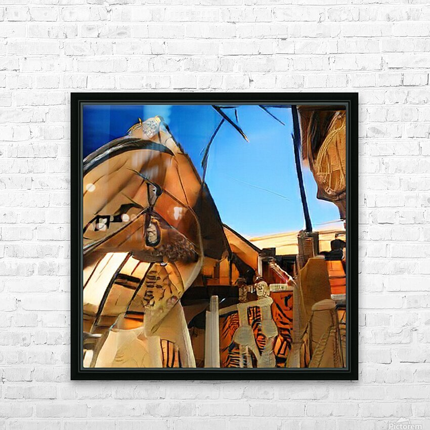 Composicion10023 HD Sublimation Metal print with Decorating Float Frame (BOX)