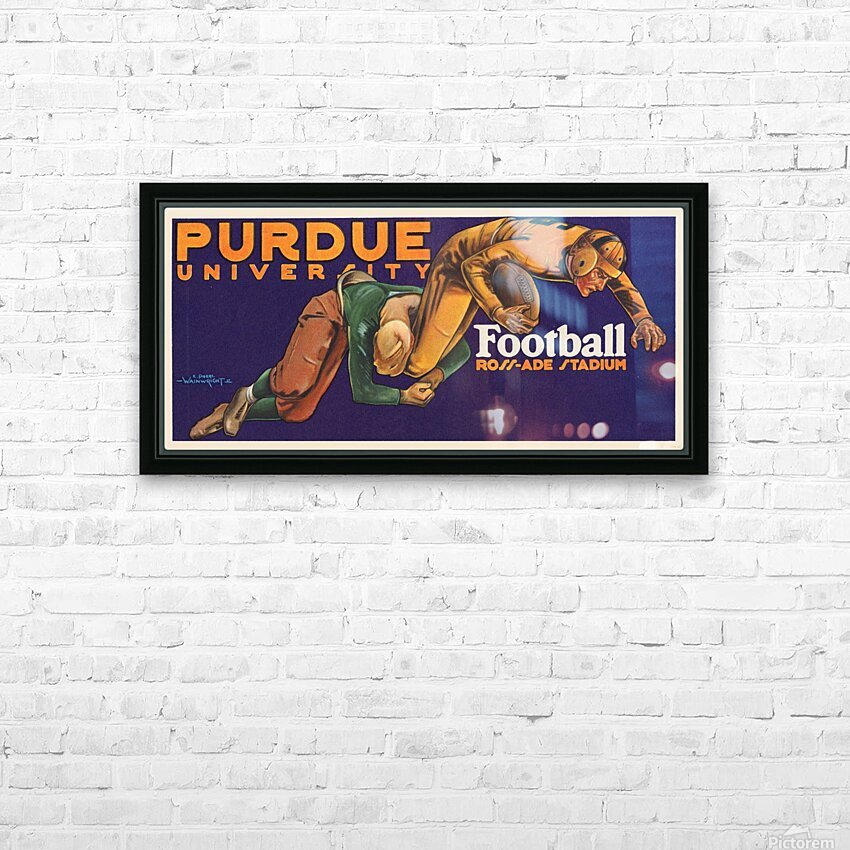1929 purdue football art HD Sublimation Metal print with Decorating Float Frame (BOX)