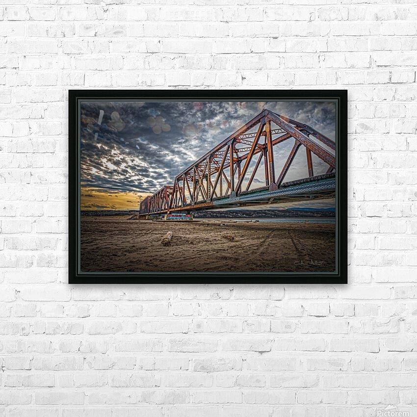 Pont de fer Haldimand HD Sublimation Metal print with Decorating Float Frame (BOX)