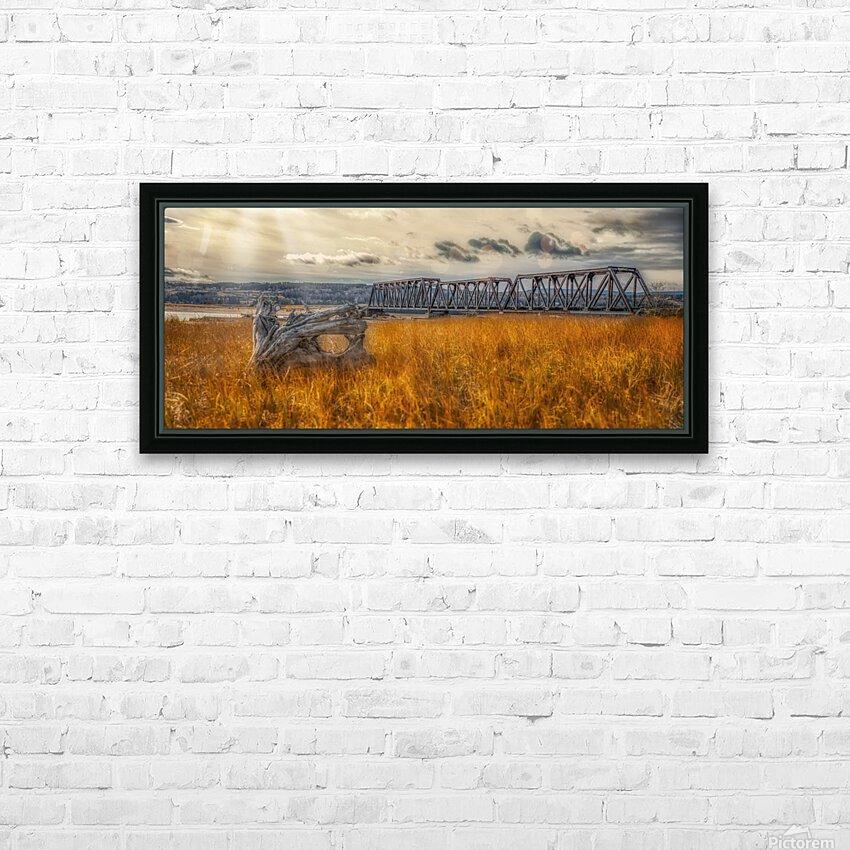 Pont de fer plage Haldimand HD sublimation métal imprimé avec décoration flotteur cadre (boîte)