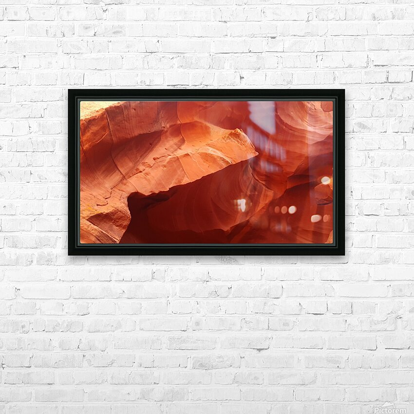 Eroded Wall of Antelope Canyon  HD Sublimation Metal print with Decorating Float Frame (BOX)