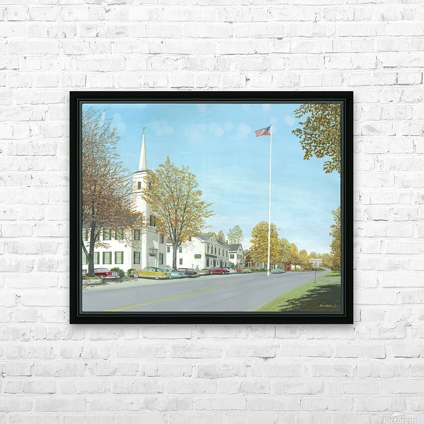October Sunday - Newtown Scenes 24X30   HD Sublimation Metal print with Decorating Float Frame (BOX)