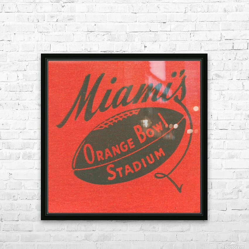 1950 Miami Orange Bowl HD Sublimation Metal print with Decorating Float Frame (BOX)