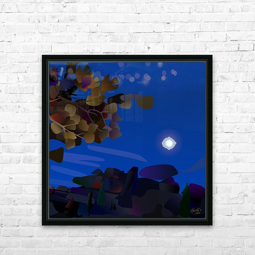 Vedauwoo at Night with Headlamps HD Sublimation Metal print with Decorating Float Frame (BOX)