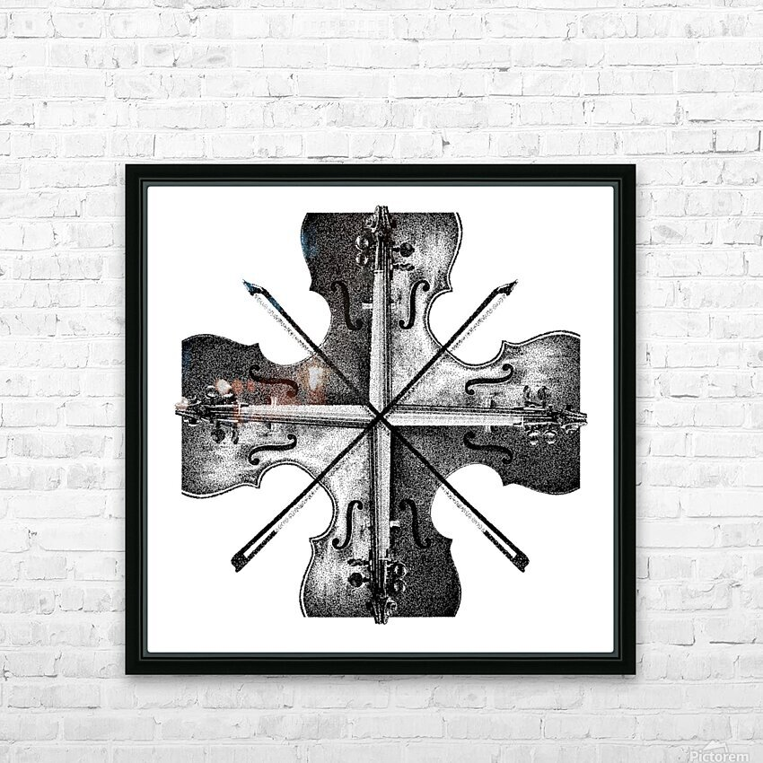 Harmony 36x36 BW HD Sublimation Metal print with Decorating Float Frame (BOX)