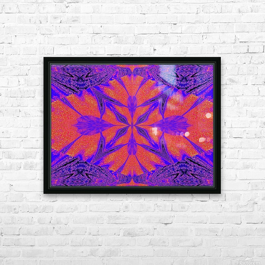 Purple Butterfly In Sunshine 1 HD Sublimation Metal print with Decorating Float Frame (BOX)