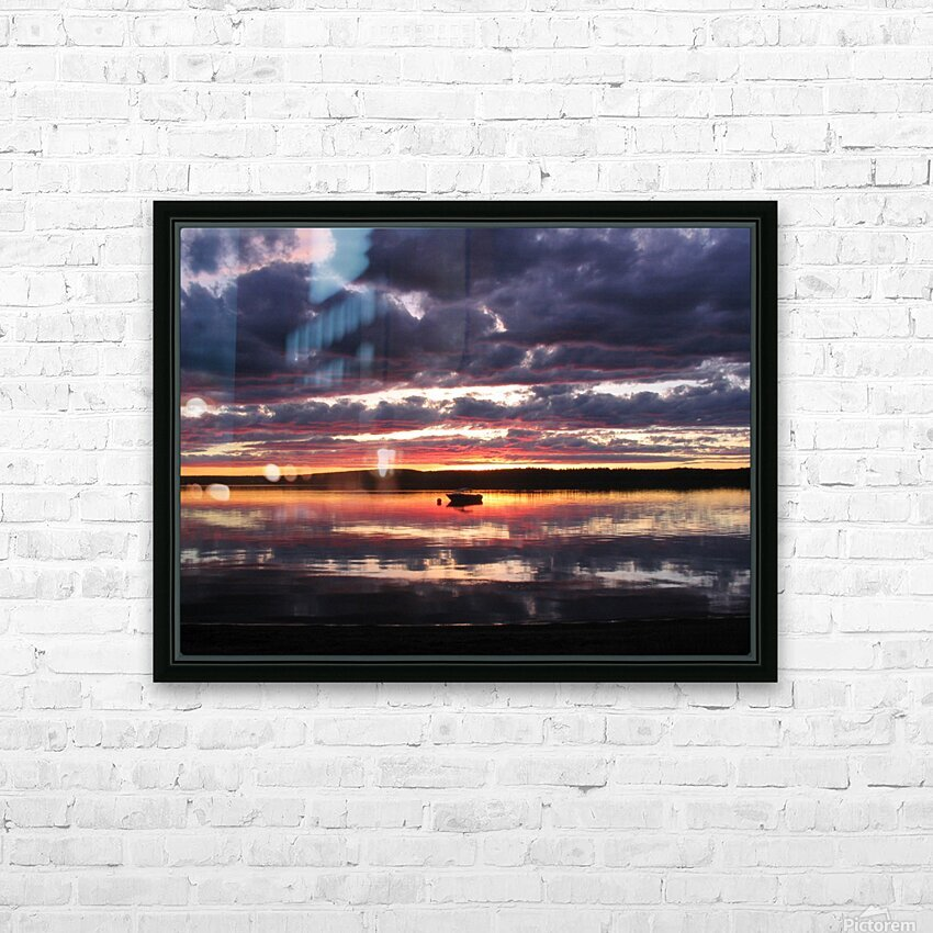 Sunset GL HD Sublimation Metal print with Decorating Float Frame (BOX)