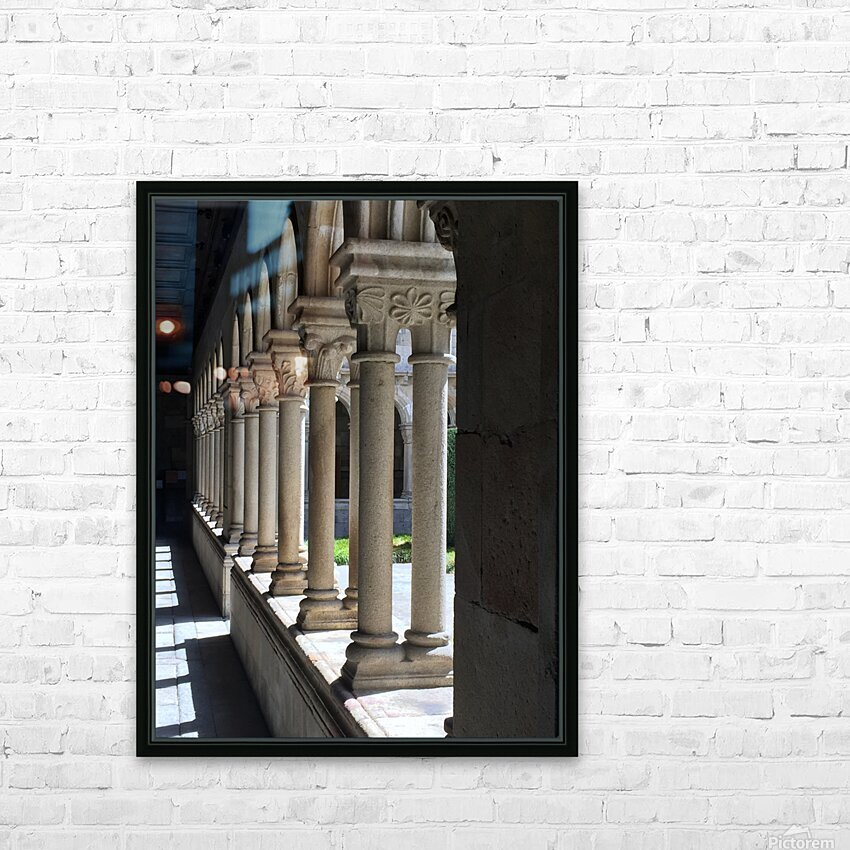 Pillars HD Sublimation Metal print with Decorating Float Frame (BOX)