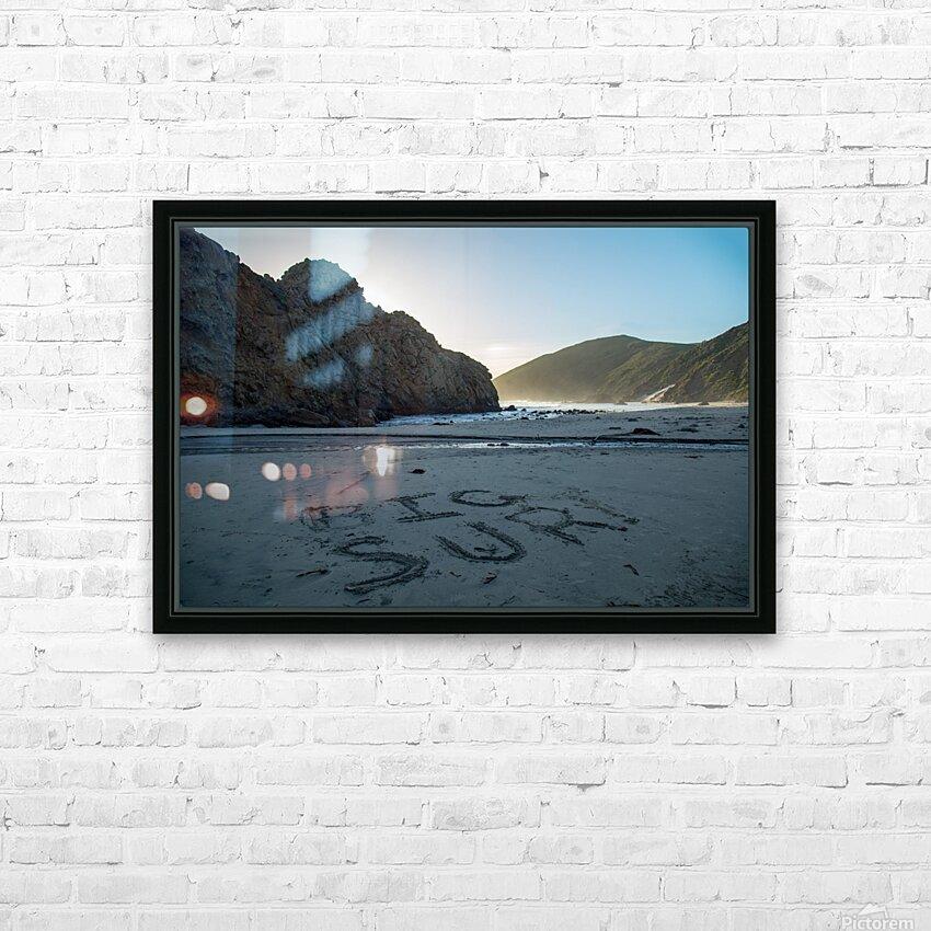 Big Sur HD Sublimation Metal print with Decorating Float Frame (BOX)