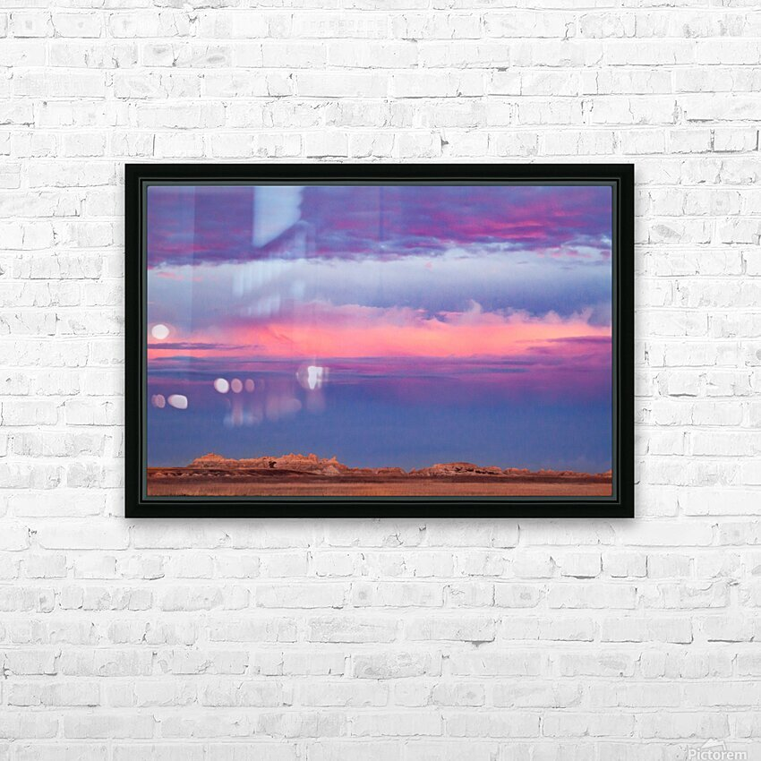 Light Banding HD Sublimation Metal print with Decorating Float Frame (BOX)