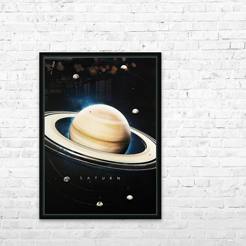 Destination Saturn HD Sublimation Metal print with Decorating Float Frame (BOX)
