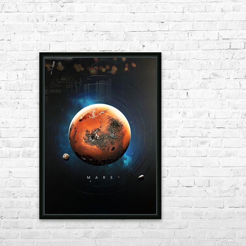 Destination Mars HD Sublimation Metal print with Decorating Float Frame (BOX)