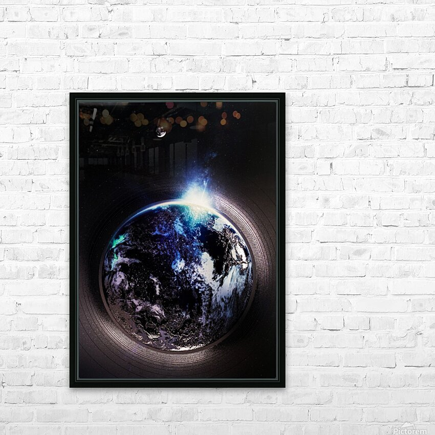 Cosmic Sapphire HD Sublimation Metal print with Decorating Float Frame (BOX)