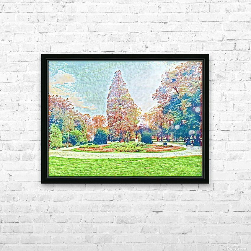 Garden Childhood HD Sublimation Metal print with Decorating Float Frame (BOX)