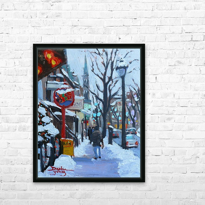 Montreal Winter St-Denis HD Sublimation Metal print with Decorating Float Frame (BOX)