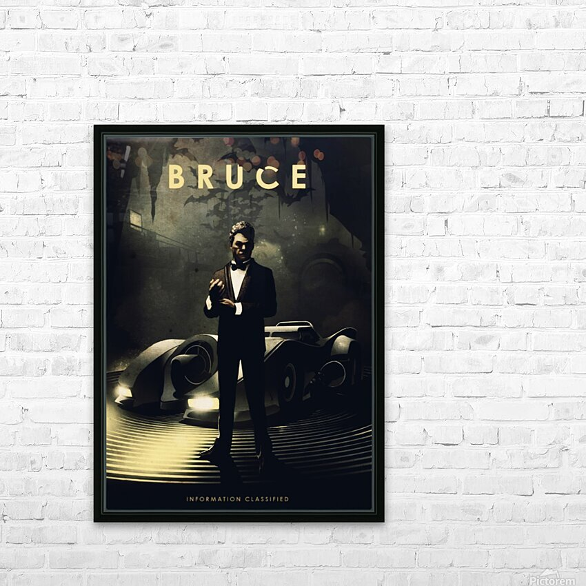 Bruce Wayne HD Sublimation Metal print with Decorating Float Frame (BOX)