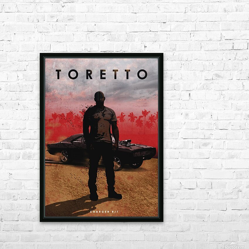 Dominic Toretto HD Sublimation Metal print with Decorating Float Frame (BOX)