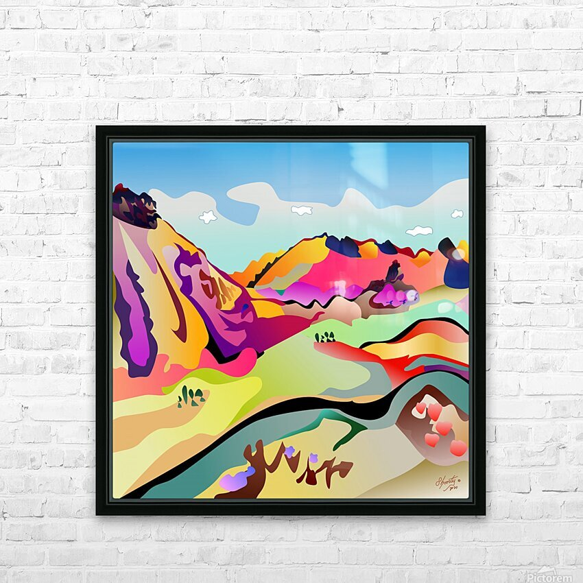 Sybille Range HD Sublimation Metal print with Decorating Float Frame (BOX)
