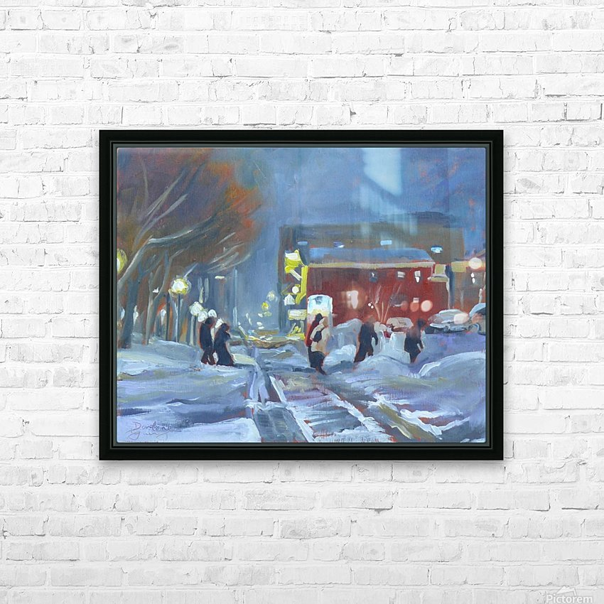 Charlottetown Winter Evening HD Sublimation Metal print with Decorating Float Frame (BOX)