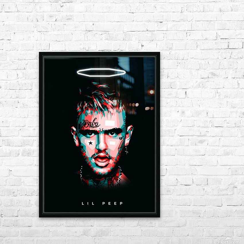 LIL PEEP HD Sublimation Metal print with Decorating Float Frame (BOX)
