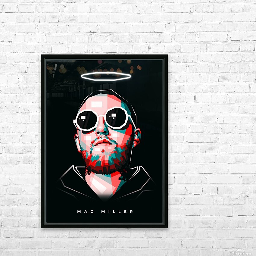 Mac Miller HD Sublimation Metal print with Decorating Float Frame (BOX)
