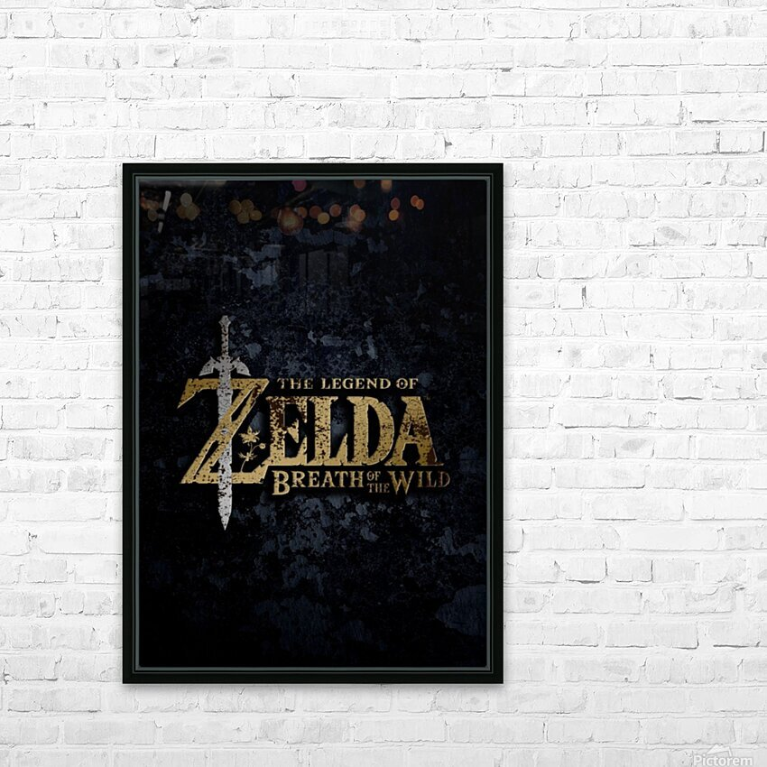 The Legend Of ZELDA HD Sublimation Metal print with Decorating Float Frame (BOX)