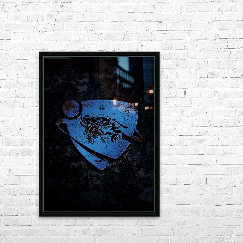 Rocket League HD Sublimation Metal print with Decorating Float Frame (BOX)