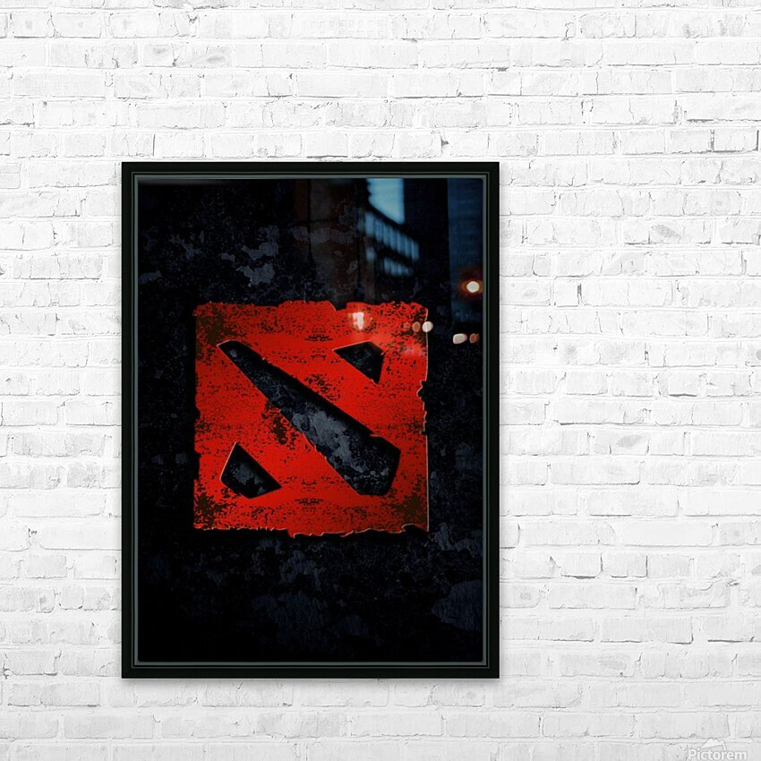 DOTA 2 HD Sublimation Metal print with Decorating Float Frame (BOX)