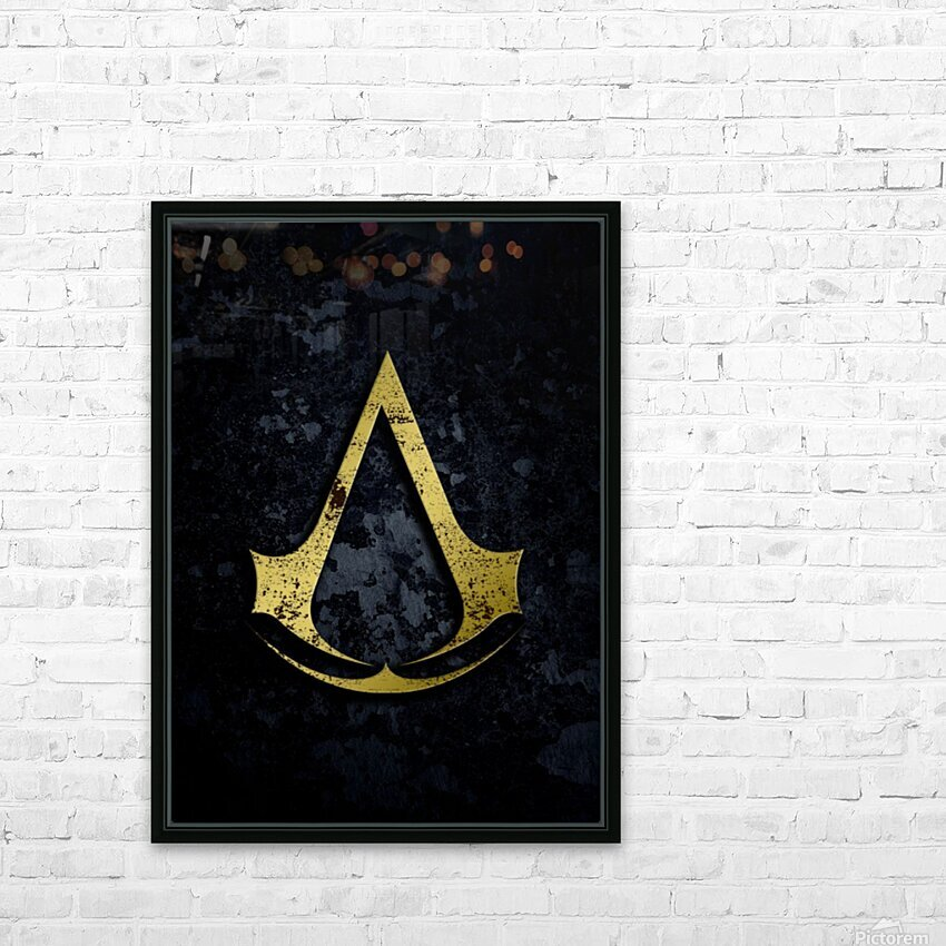 Assassin Creed HD Sublimation Metal print with Decorating Float Frame (BOX)