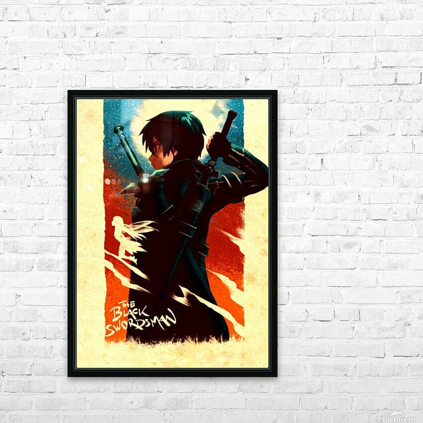 Kirito SWORD ART ONLINE HD Sublimation Metal print with Decorating Float Frame (BOX)