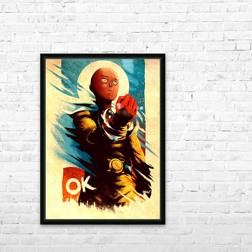 Saitama ONE PUNCH MAN HD Sublimation Metal print with Decorating Float Frame (BOX)
